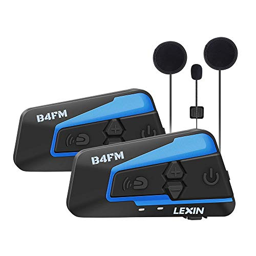 LEXIN 2X B4FM Intercomunicador Casco Moto, Moto Bluetooth Radio Comunicador para Casco,...