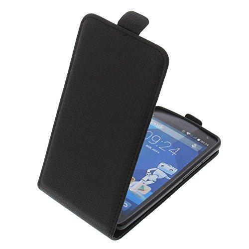 foto-kontor Tasche für Haier Voyage G31 Smartphone Flipstyle Schutz Hülle schwarz