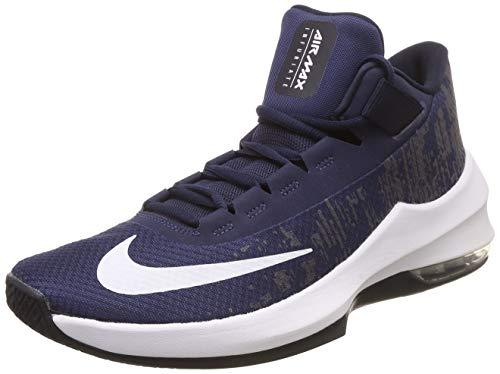 Nike Herren Air Max Infuriate 2 Basketballschuhe, Mehrfarbig (Midnight Navy/White/Dark Obsidian 404), 41 EU - Obsidian-basketball-schuh