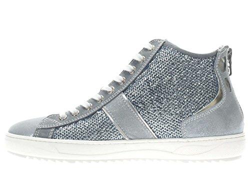 Nero Giardini Donna Sneaker P717243D-238 Sneaker alta con strass Blu