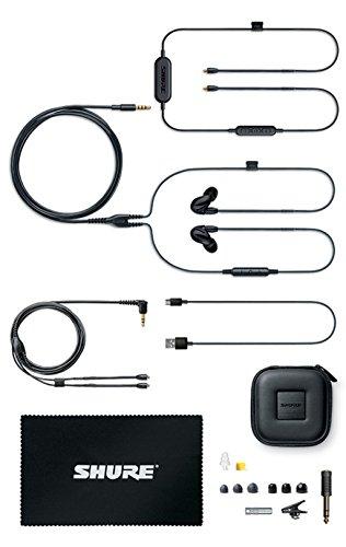 Shure SE846-K+BT1-EFS Sound Isolating Ohrhörer - Wireless Bluetooth In-Ear Ohrhörer mit passiver Geräuschunterdrückung und vier hochauflösenden Treibern - Schwarz - 2