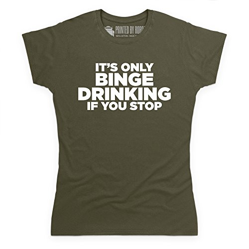 Binge Drinking T-Shirt, Damen Olivgrn