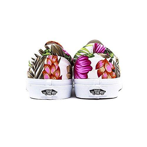 Vans U Classic Ca, Pantofole Unisexe - Adultes Hawaiian Floral Blanc