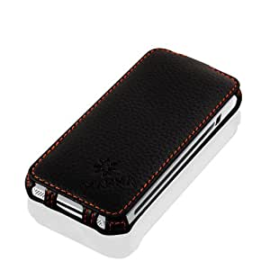 MANNA iPhone 5 iPhone 5S iPhone SE Case Leather Flip Case Folio Cover Wallet Cover | High-Quality Genuine Leather | Black