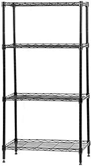 يونجلو 60 × 30 × 120 سم وحدة تخزين رفوف 4 رفوف من الفولاذ الكربوني 4 طبقات منظم تخزين الرف للمنزل المطبخ غرفة