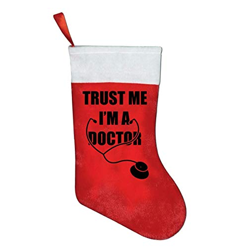 But why miss Trust Me I'm A Doctor Classic X-Mas Christmas Socks Gift Bags Gift Bags Christmas Decorations Santa Claus Socks Candy Bags Red Penguin Classic Cap