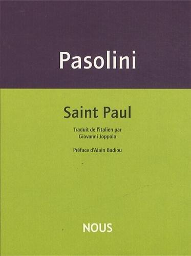 Saint Paul par Pier Paolo Pasolini