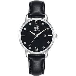 AIBI Wasserdicht Damen-Armbanduhr Classic Quarzuhr Leder AB51001-2