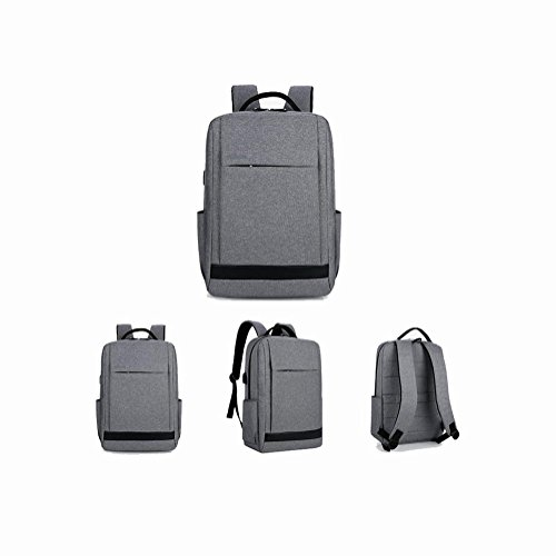 Zaino Caricabatteria intelligente Backpack del computer portatile Tempo libero Business Daypack Business Con porta USB di ricarica , light grey light grey