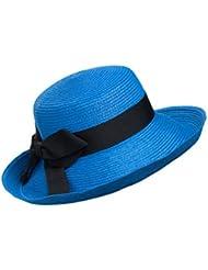 Kylin Express Casquette été pliable chapeau de paille plage soleil Femme Rose