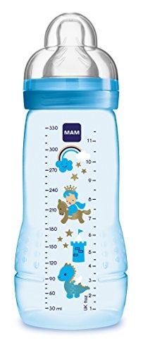 Preisvergleich Produktbild MAM 67490711 - Easy Active Baby Bottle 330 ml, Babyflasche, für Jungen, Sortiert