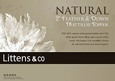 Innaliving Double Bed - Goose Feather & Down Mattress Topper / Overlay