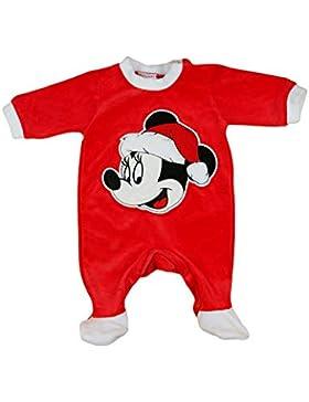 Mädchen Baby-Strampler Weihnachtsstrampler Baby Weihnachtsoutfit Langarm Fuß WARM dick Nicki Plüsch Minnie Mouse...