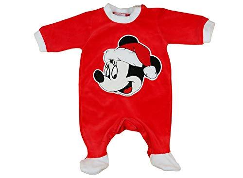 en Baby-Strampler Weihnachtsstrampler Baby Weihnachtsoutfit Langarm Fuß WARM dick Nicki Plüsch Minnie Mouse GRÖSSE 56 62 68 74 rot Neugeborene 0 3 6 9 Monate Geschenkidee Größe 56 ()