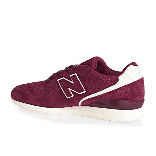 New Balance Herren 996 Leather Sneaker Rot (Red/wine)