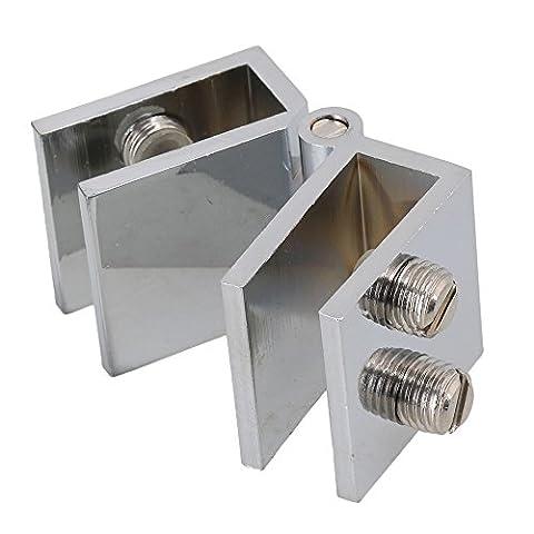180 degré Ouverture Porte en verre Placard Charnière de serrage pour verre épaisseur 5-8 mm
