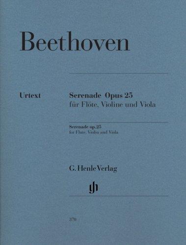 Sérénade Opus 25 en ré majeur --- Flûte traversière, Violon et Alto (Parties séparées)