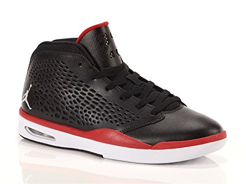jordan-uomo-flight-2015-pelle-sneakers-alte-black-bianco-palestra-rosso-41-eu