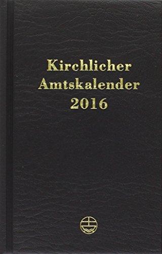 Kirchlicher 2016 Amtskalender: Schwarz