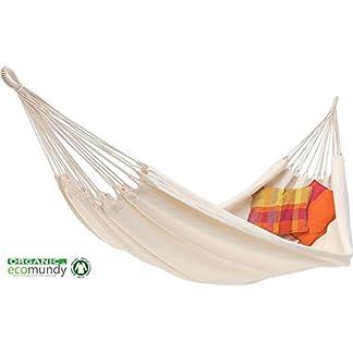 ECOMUNDY PURE XXL 400 – Hamaca para 2 personas – hecha de algodón orgánico GOTS. 160X260x400cm