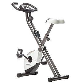 Skandika Foldaway X-1000 Cyclette Pieghevole, Allenamento Gambe e di Resistenza (Incluso di Cardiofrequenzimetro, Training- Computer con misurazione del consumo calorico, Fino a 110 kg)