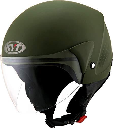 KYT Helm COUGAR PLAIN ARMY MATT GREEN - XL