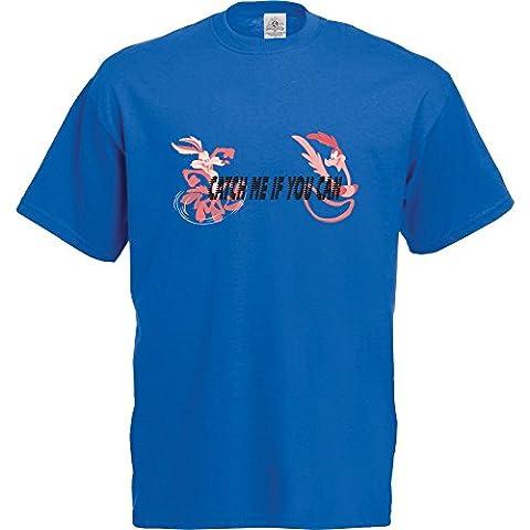 Roadrunner / Wile E Coyote T-Shirt (Large, Royal