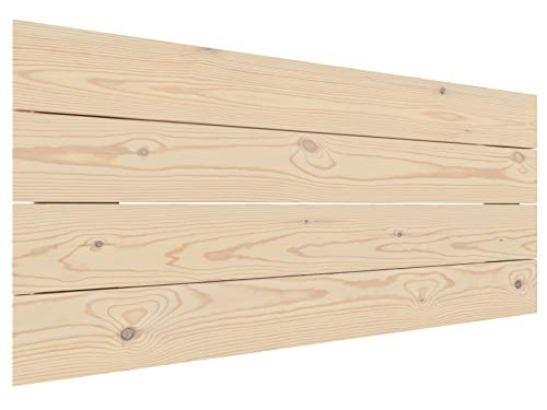 LA WEB DEL COLCHON Cabecero de Cama de Madera Rústico Vintage 100 x 44 cms. para Camas de 80 y 90 cms. Crudo sin Pintar. Incluye herrajes para Colgar con regulador de Altura