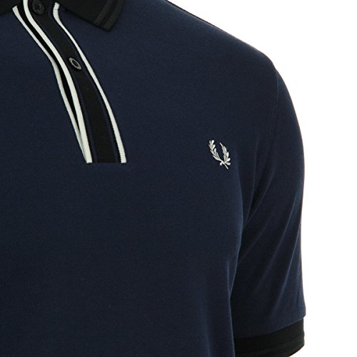 Fred Perry Tipped Placket Pique Shirt, Polo Blau