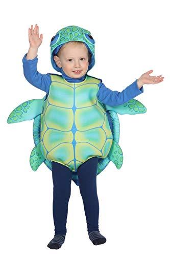 Wilbers Schildkrötenkostüm Kostüm Schildkröte Kröte Tierkostüm Karneval Fasching 86-98 Grün/Blau 98 (ca. 3 Jahre) (Für Turtle-kostüme Kleinkinder)