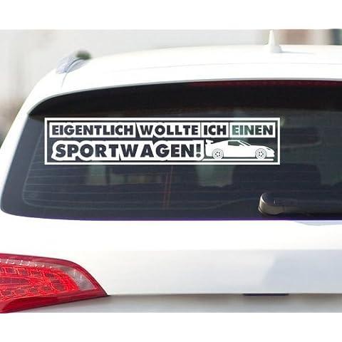 Pegatina Cotización de coche Coche deportivo, Auto Tuning gracioso Pegatinas, JDM OEM Tatuaje H 2 069 - Rojo Mate,