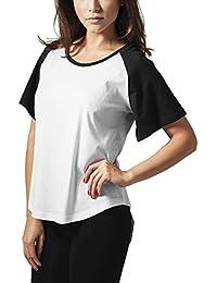 Urban Classics Ladies Raglan Hilo Tee, T-Shirt Femme