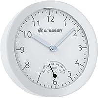 Bresser 8020115GYEQUA MyTime Bath Mini Reloj de Baño, Color Blanco