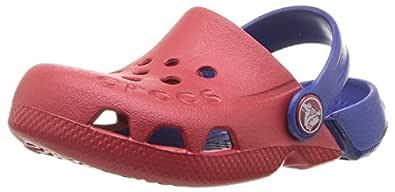 crocs Unisex's Electro Pepper/Cerulean Blue Clogs-6 Kids UK (C6) (10400)