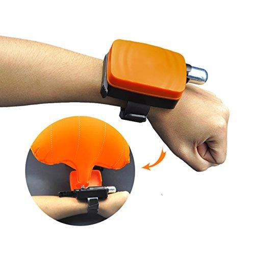LB Trading tragbar Rescue tragbar Gerät Float Armband Leicht Wasser Schwimmhilfe Gerät ertränken aufblasbar Gasbag Schwimmen Sicherheit Gerät Passform für Erwachsene Kinder