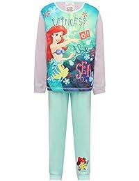 Girls Disney Ariel Princess Character Long Sleeve Top Full Length Cuffed Ankle Trouser Pyjama Set