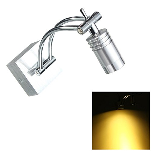 KING DO WAY 3w Edelstahl LED Spiegel Bad Schminkspiegel Bild Wand Light Bar Lampe Spiegellicht Badlampe warm weiss - 2