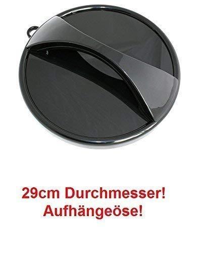 Parrucchiere sedia specchio mobile. 29 cm diametro, ergonomico trattare, nero, con cappio appeso