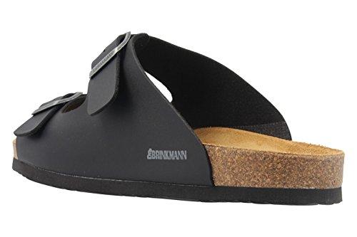 DR.BRINKMANN Uomini Mules 600275-1 nero schwarz