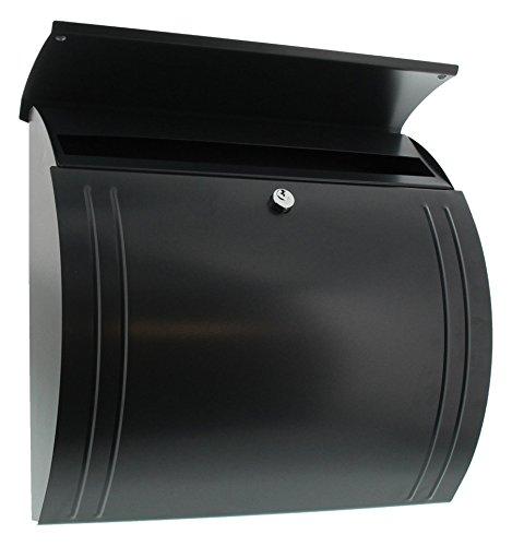 BURG-WÄCHTER, Briefkasten mit Öffnungsstopp, A4 Einwurf-Format, Verzinkter Stahl, Modena 857 ANT, Anthrazit - 3