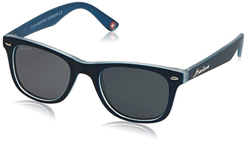 Montana MP41, Gafas de Sol Unisex Adulto, Multicoloured (Navy Blue/Smoke Lenses), Talla única