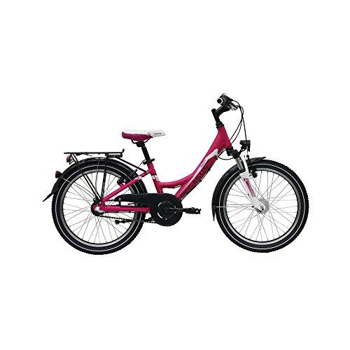 Pegasus Avanti 20\' Mädchenfahrrad 3 Gang Shimano 20 Zoll Kinderfahrrad STVZO, Rahmenhöhe:28 cm, Farbe:Pink