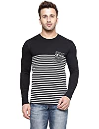 New Trendy Gespo Men'S Cotton Round Neck Full Sleeves Tshirt