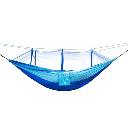 UniqueHeart Tamaño Portátil de Peso Ligero mosquitera de Alta Resistencia Paracaídas Hamaca Cama Colgante para Acampar al Aire Libre Caza
