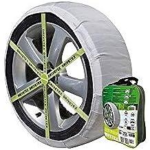 Kit compuesto por 2 fundas-cadenas textiles turismos DRIVETEX hielo/nieve talla 78 y 2 guantes para el montaje.