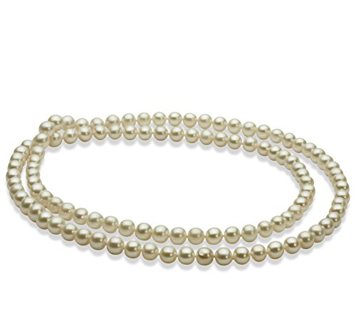 Bianco 6-7mm Qualità AA - Collana di Perle di Acqua Dolce