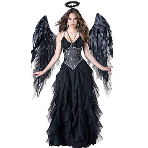 Mutterschafts Angel Kostüm - HS-ZM-06 Halloween Flügel Dark Angel Kostüm-Frauen-Kleid-Schwarz-Rock-Geist-Vampir-Kostüm