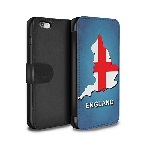 Stuff4 Coque/Etui/Housse Cuir PU Case/Cover pour Apple iPhone 5C / Italie/Italien Design / Drapeau Pays Collection Angleterre/Anglais