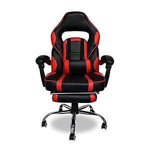 41aQeA4ESML. SS300  - HG-Silla-Giratoria-De-Oficina-Gaming-Chair-Apoyabrazos-Acolchados-Premium-Comfort-Silla-Racing-Capacidad-De-Carga-200-Kg-Altura-Ajustable-NegroRojo