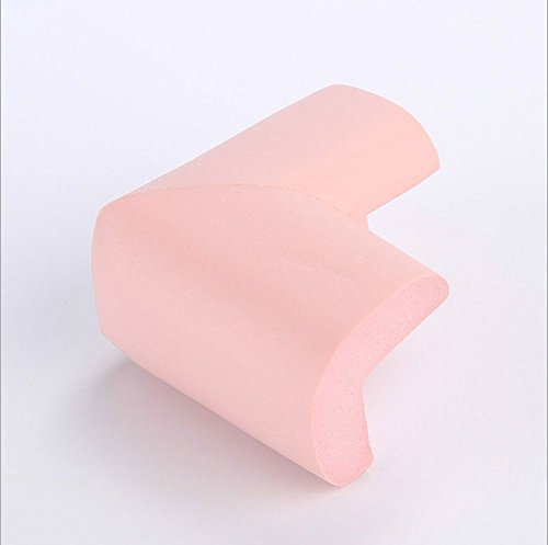 Homesave Tischschutz Baby Kinderbetreuung Aufkleber +4 Ecke Dick Weich Ungiftig Und Umweltschutz 3 Stück,Pink